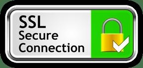 Lock symbol showing SSL secure connection
