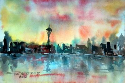 behrooz bahadori art seattle city view due behr gallery
