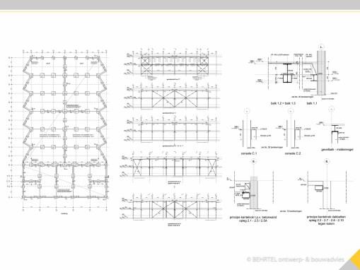constructie tekeningen bedrijfshal te Tilburg
