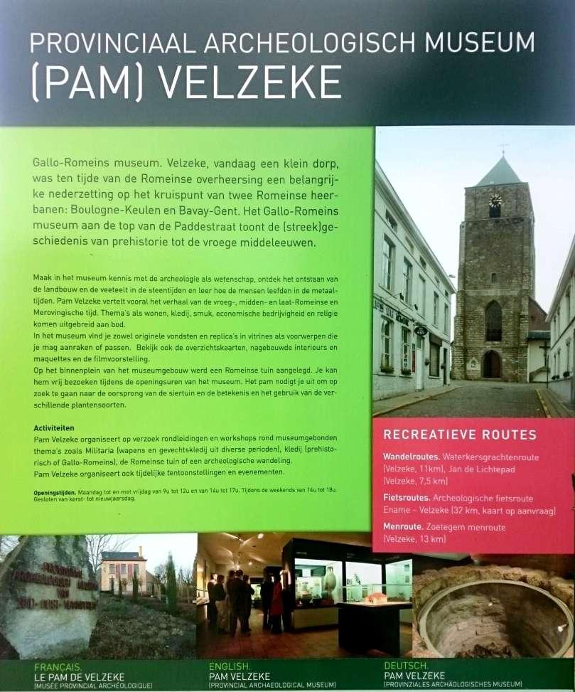 Archeologisch museum Velzeke - buiten - plakaat 1