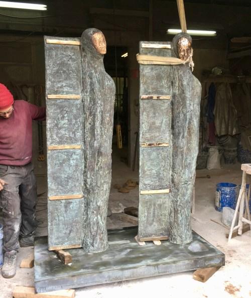 TWINS in opbouw bronsgieterij 2