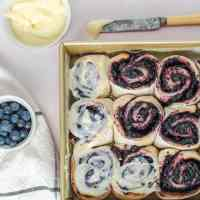 Two Ingredient Dough Blueberry Sweet Rolls