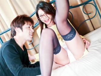 Observe porn vid Mizuki Ogawa Asina in stockings has nips and cunny ate - Shiofuky
