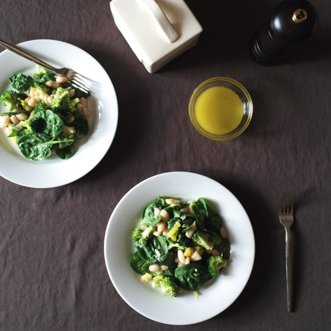 Broccoli, White Bean, and Spinach Salad | In Fine Fettle