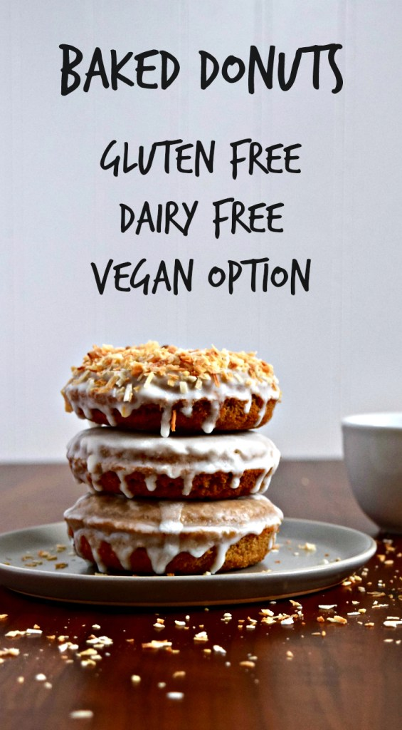 Gluten Free Baked Donuts - These donuts are also dairy-free with an egg-free vegan option so you can make them for anyone in your life! They're a blank slate so glaze and decorate as your heart desires.