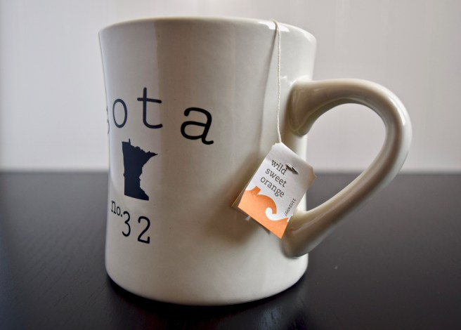 Tazo Wild Sweet Orange Tea in a Minnesota Mug
