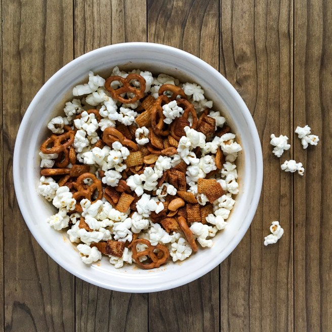 Honey-Sriracha Chex Mix (Gluten Free, Vegetarian) - This sweet, spicy and salty snack mix is utterly addictive. It can be made in the microwave so it's ready to eat in less than 15 minutes.