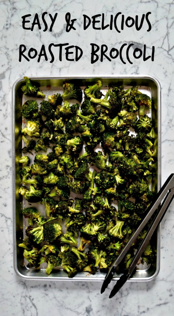 Easy Roasted Broccoli recipe - This is one of those dishes you should definitely know by heart. This roasted broccoli gets perfectly charred in the oven and the addictive recipe only calls for 5 simple ingredients.