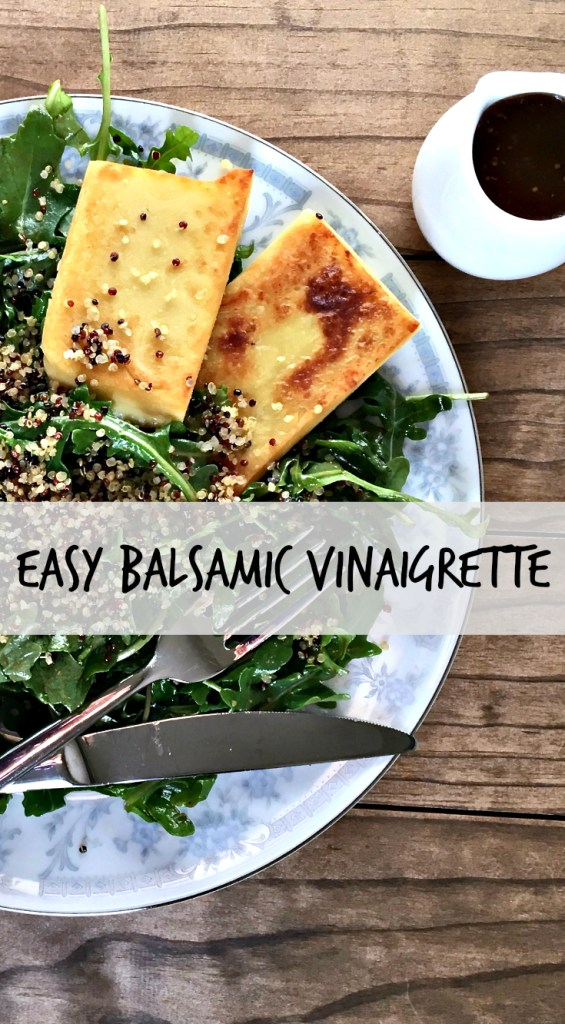 Easy Homemade Balsamic Vinaigrette [Gluten Free, Vegan] - This super simple dressing has flavor like you wouldn't believe. Just simple ingredients from your pantry and suddenly you'll feel like a chef! You'll be eating more veggies in no time.