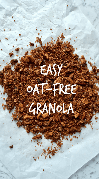 Grain-Free Granola Recipe | This is an excellent granola if you're looking for an oat-free recipe. Millet is a lectin-free grain, which is why I used it here, but you could sub in quinoa if that's what you have. Though millet is a lot cheaper than quinoa, so I highly recommend it if you're on a budget!