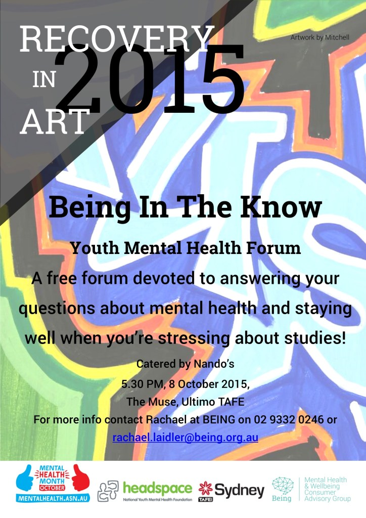BEING in the Know YMH Forum Flyer
