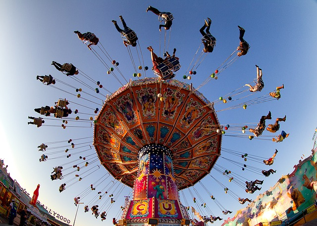 Amusement Park Swing