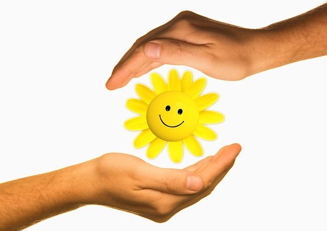 Hands Smiling Sun