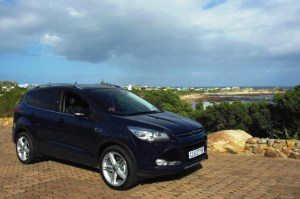 The Ford Kuga Titanium with Rooiels in the background