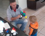 BIL D with nephew E and the Tugo blocks