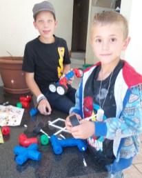Nephews D & J playing with the Tugo blocks