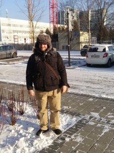 Chris in Poland in winter
