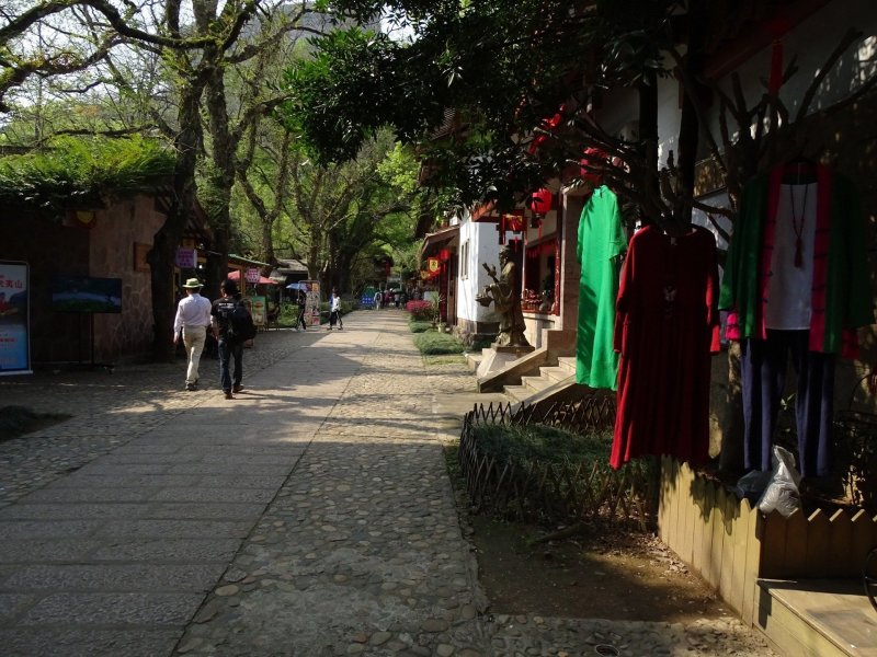 View down Song Street in Wuyi Gong resort