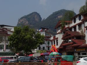 The town of Wuyi Shan with Da Wang Peak in the background