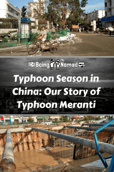 On the September 13th 2016, Meranti, the worst typhoon to hit Xiamen in China's Fujian province rolled in over the city. This is an account of what typhoon season is like in China and how we survived it. #chinaexpat #chinatyphoon #xiamen #xiamentyphoon #meranti