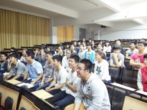 Chinese students in a lecture theatre