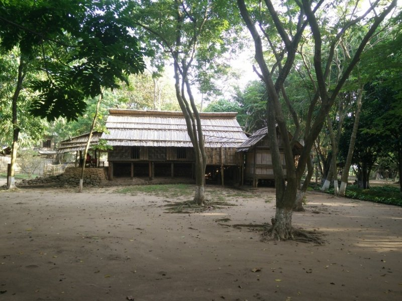 An old hut in Ethnographic Museum in Hanoi.