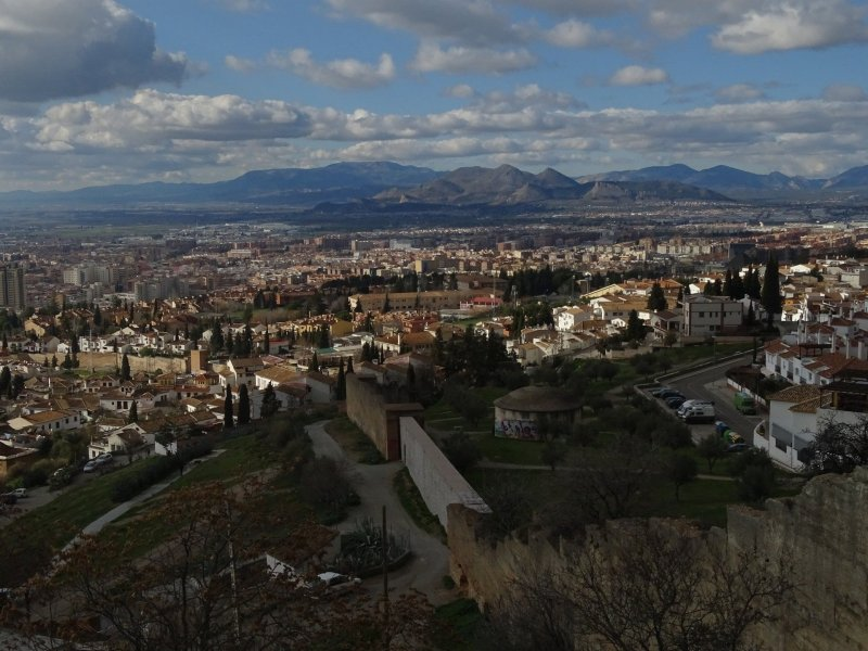View of the Albaicin and Granada from San Miguel de Bajo