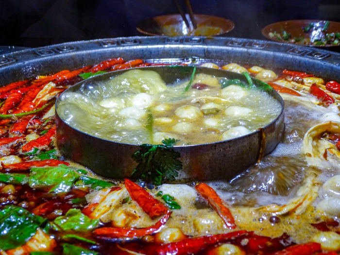 Chinese sichuan hotpot -- one of the delicacies you'll discover when moving to China.