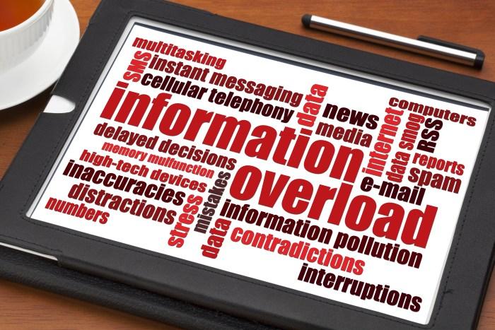 Information overload - shutterstock_230334175
