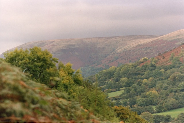 Majestic mounds of the Black Mountains, Llanthony Valley