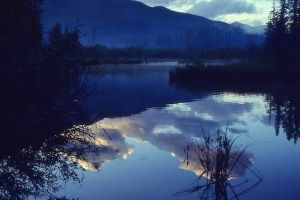 Tranquillity personified in this inky blue lake and spending time alone