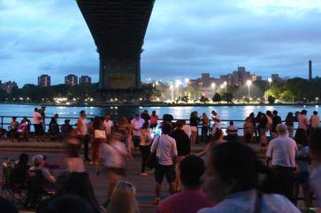 Under the bridge, Astoria Park, June 30th.