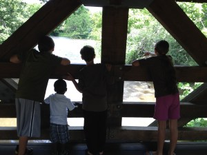 fears: kids looking out over the river