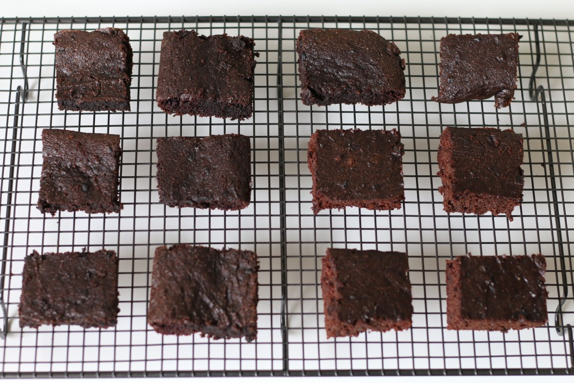 Cupid's Dark Chocolate Grain-free Brownies from www.beingbrigid.com. This recipe is gluten-free, dairy-free, and grain-free.