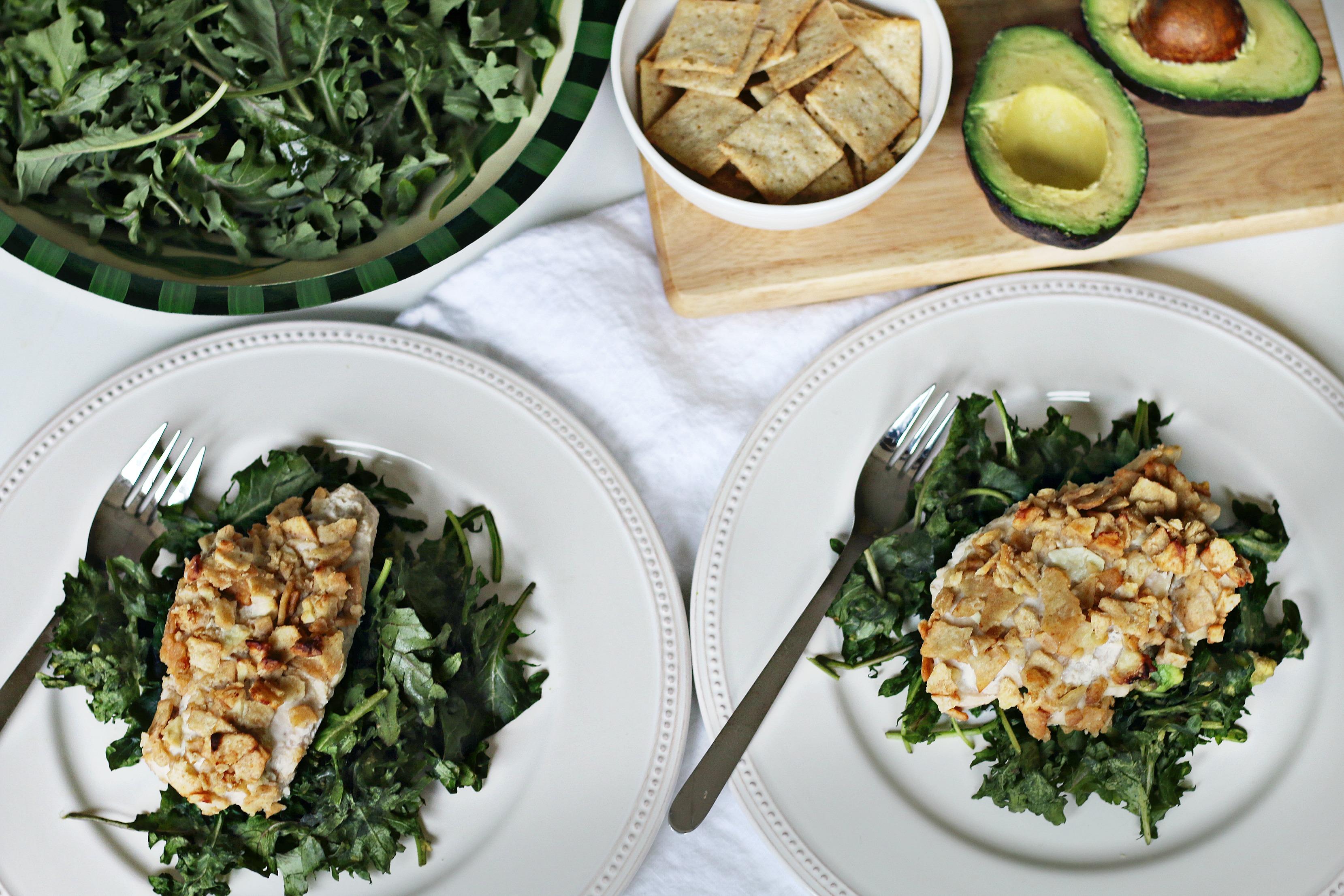 Garlic Crusted Chicken-N-Kale