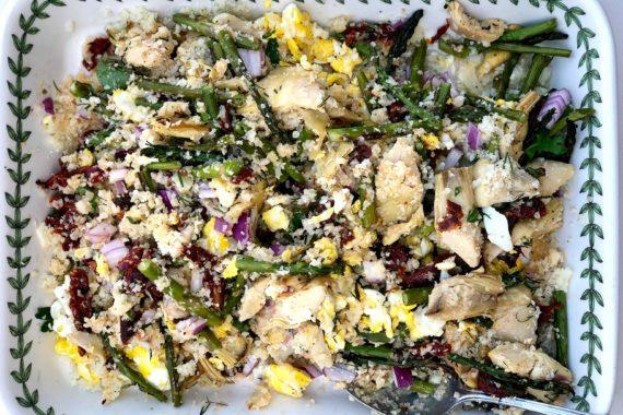 Asparagus Cauliflower Rice Salad