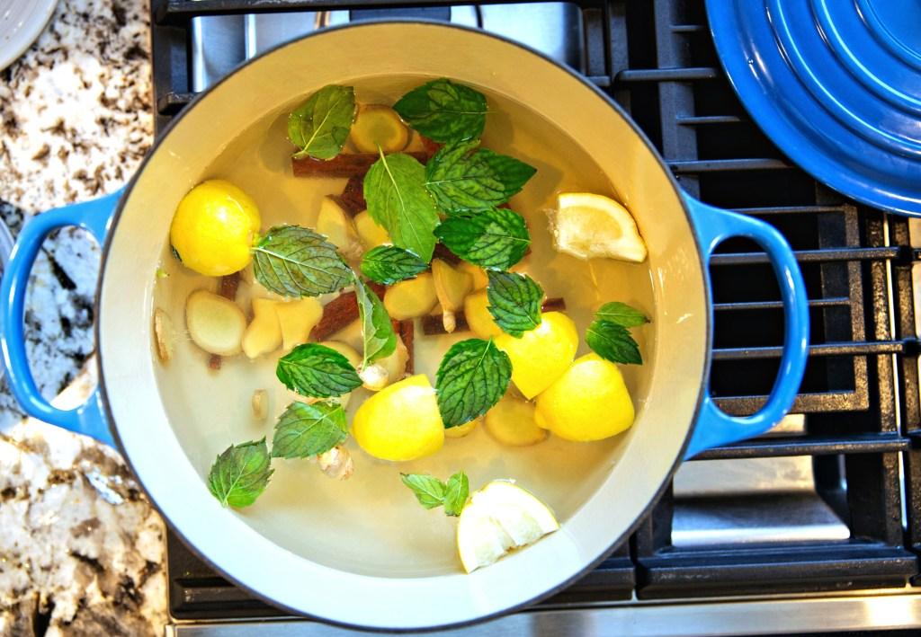Cinnamon Lemon Ginger Tea by BeingBrigid Brigid Titgemeier