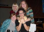 Senior year suite-mates Meredith, Laura, Charis, Rachael