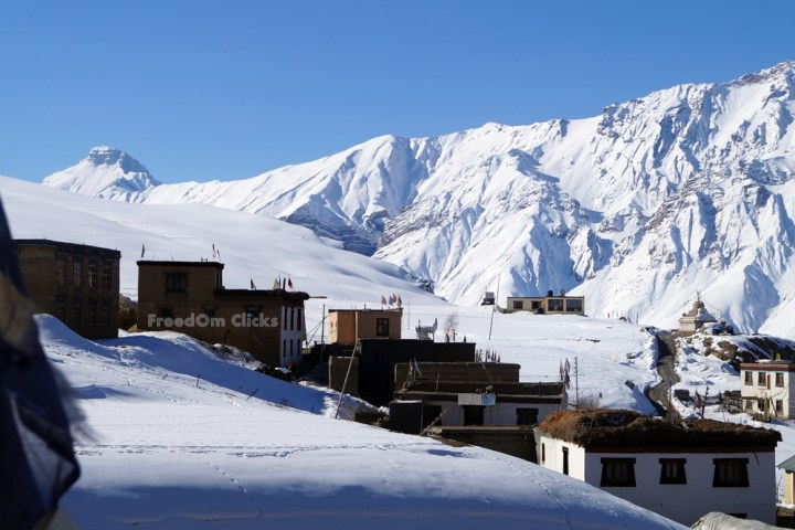 Kibber Village in Winters, Spiti Valley