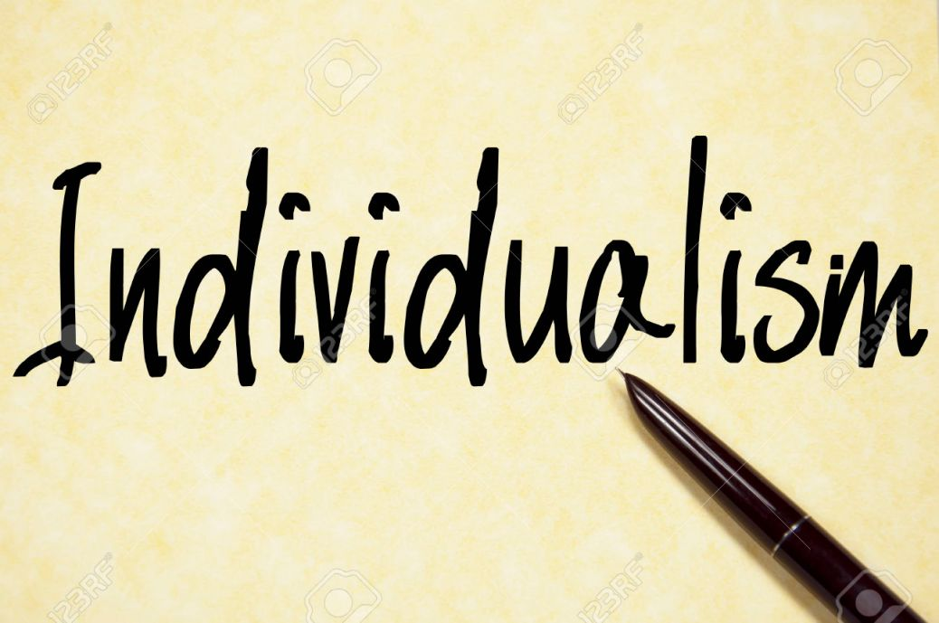individualism word write on paper