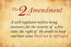 """A well regulated Militia, being necessary to the security of a free State, the right of the people to keep and bear Arms, shall not be infringed."""
