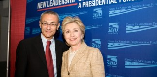 John Podesta and Hillary Clinton. Flickr/Center for American Progress Action Fund