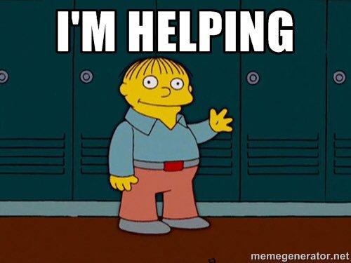 """Ralph Wiggum - Neoconservatism - """"helping"""""""