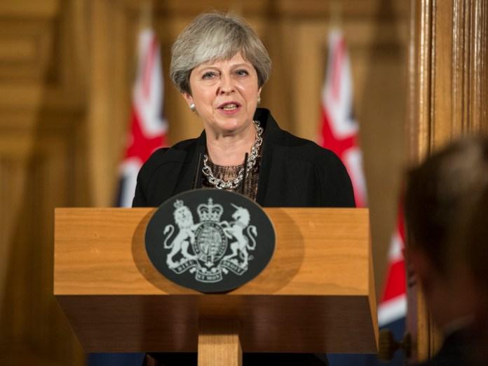 Theresa May podium, Brexit
