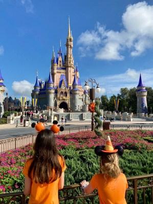 Isabella & Natalie at Cinderella Castle