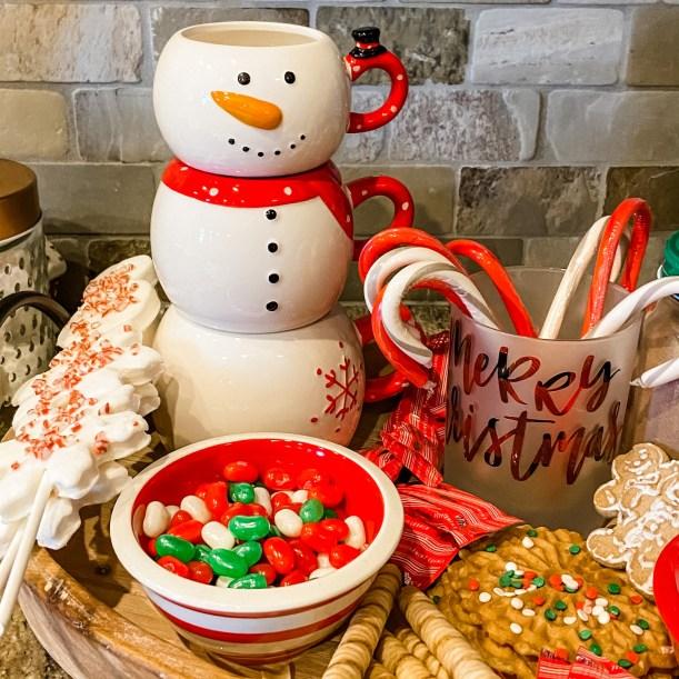 Snowman Cocoa Tray