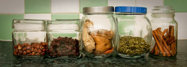 Jars from chairty shops