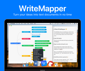 WriteMapper is a writing app for your iPad and Mac