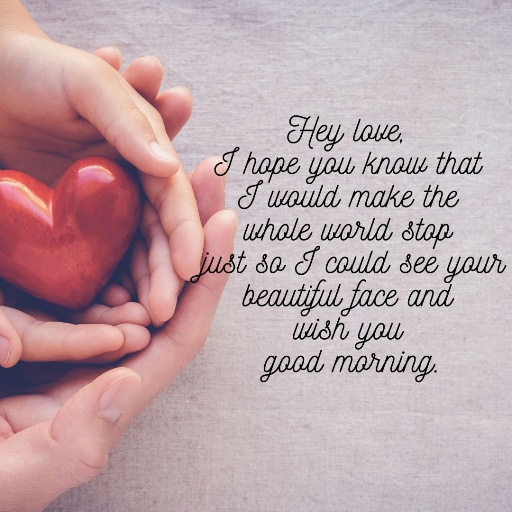 good morning cute message for her