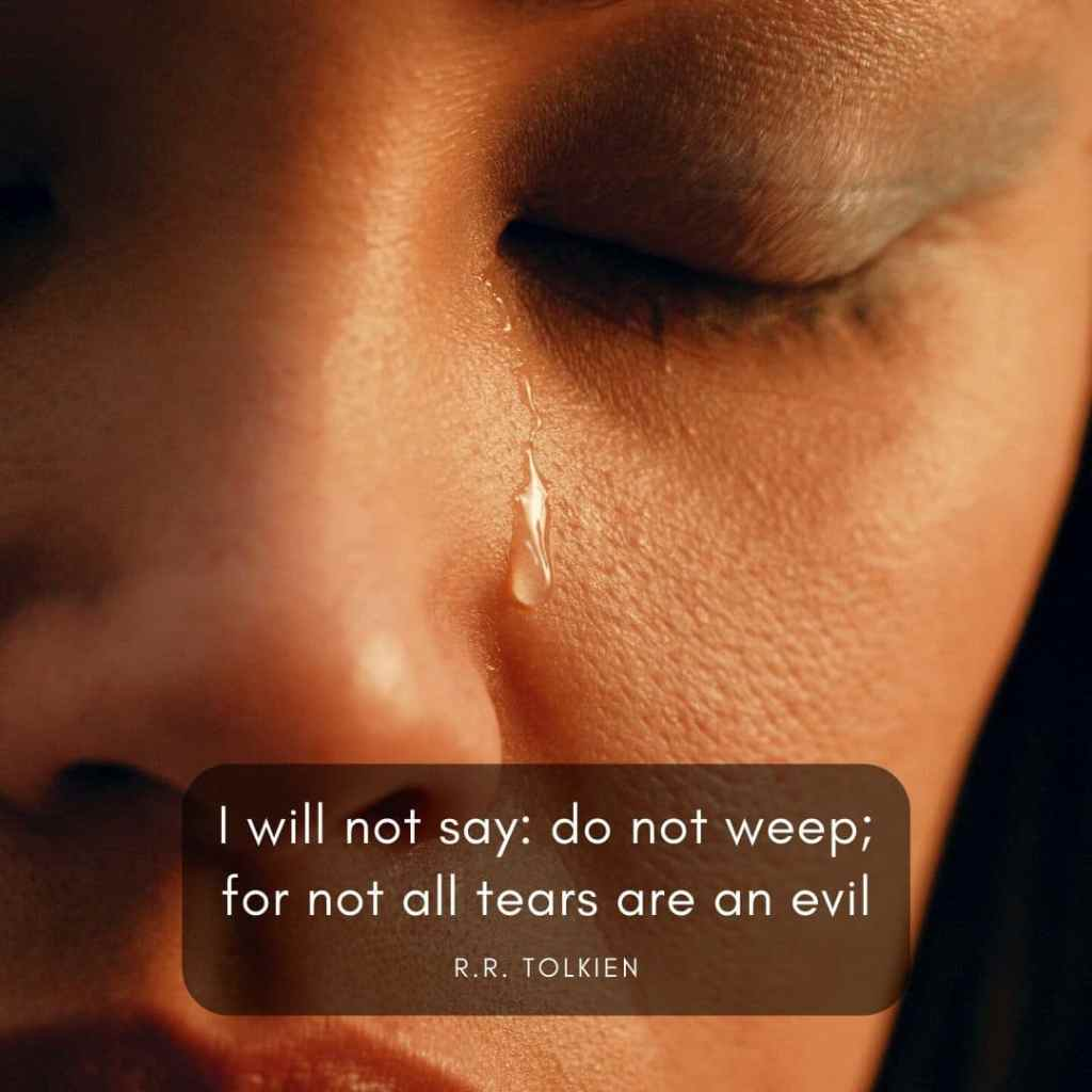 rr tolkien quote about grief